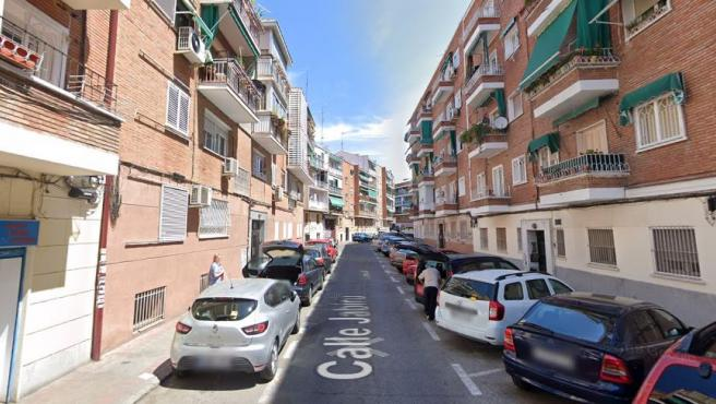 Imagen de la calle Jabirú, en Carabanchel.