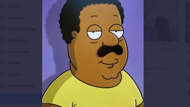 Imagen de Cleveland, el personaje negro de 'Padre de familia'.