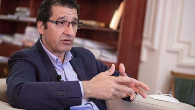 El presidente de la Diputación de Ciudad Real, José Manuel Caballero, en entrevista con Europa Press