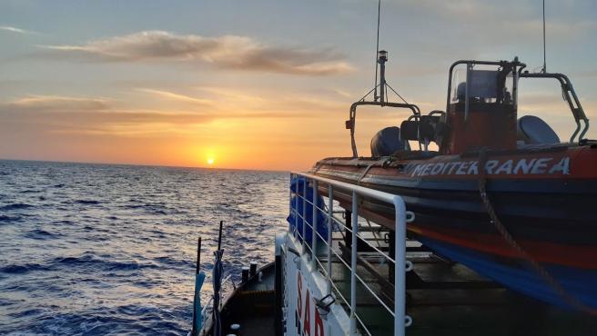 El barco de rescate 'Mare Ionio' de la ONG Mediterranea Saving Humans.