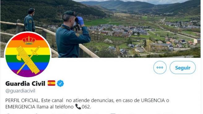 Imagen de la foto de perfil de la Guardia Civil en Twitter.