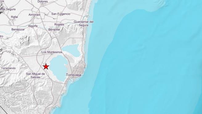 Lugar en el que ha tenido lugar el terremoto.