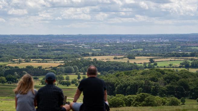 Vista de la localidad británica de Leicester desde Bradgate Park.