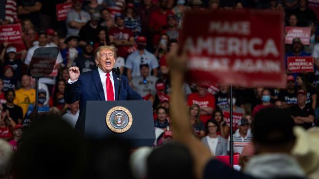 Donald Trump durante un acto en Tulsa, en Oklahoma (EE UU).