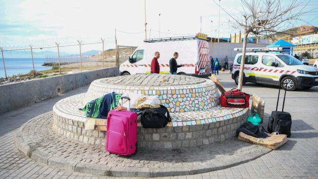 Imagen de archivo de la frontera del Tarajal que separa Ceuta de Marruecos.