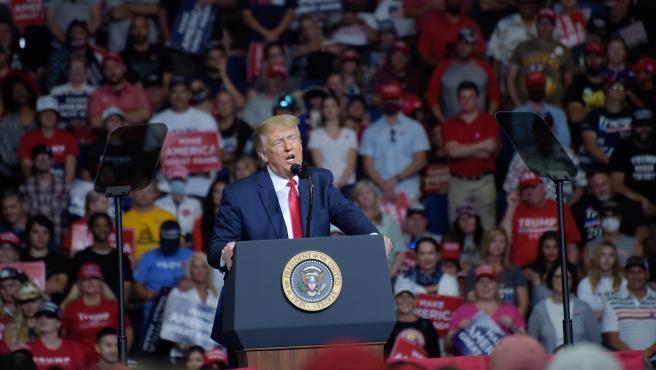 Mitin de Trump en Tulsa, donde se utilizó la canción 'You Can't Always Get What You Want' de los Rolling Stones.