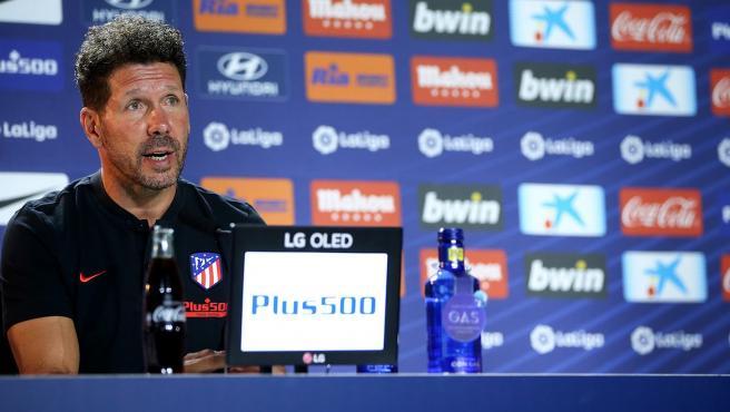 Diego Pablo Simeone durante una rueda de prensa