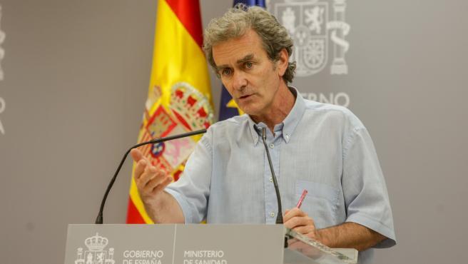 El director del Centro de Coordinación de Alertas y Emergencias Sanitarias, Fernando Simón, el 29 de junio.