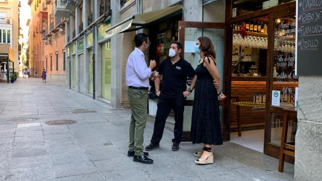 Visita del PSOE a hosteleros