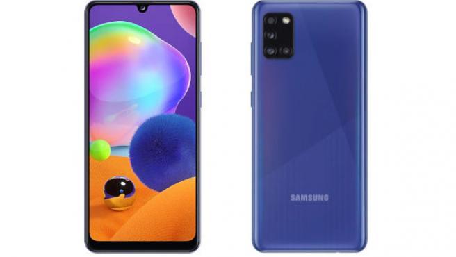 Frontal y trasera del Samsung Galaxy A31