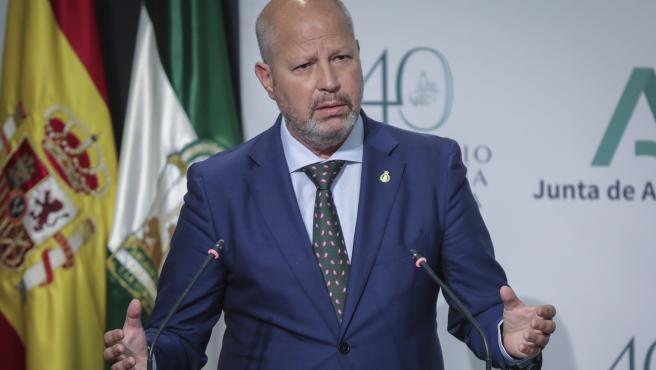 El consejero de Educación de la Junta, Javier Imbroda, en la presentación del plan para el curso 2020-2021.