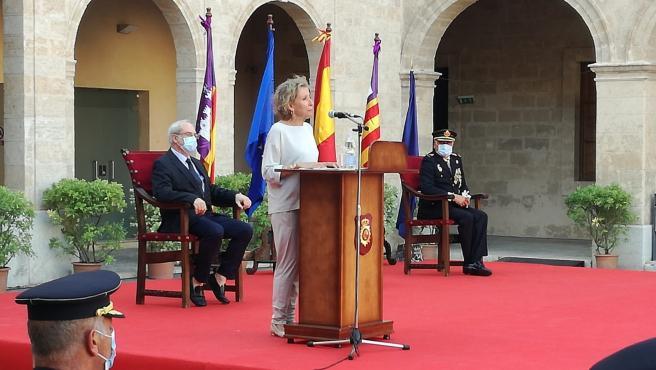 La delegada del Gobierno, Aina Calvo, en la Jura de la 34 promoción de la Escala Básica de Policías en Baleares