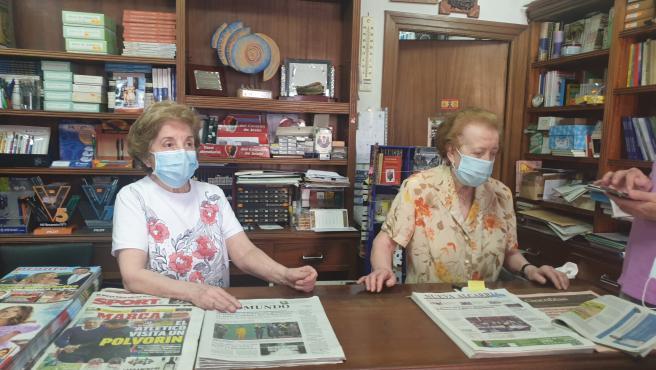 Las hermanas Blas de Mingo de la librería 'La Alcarreña'.