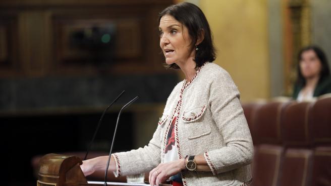 Pleno en el Congreso de los Diputados. La ministra de industria Reyes Maroto. 24/06/2020. Foto Javi Martinez/Pool.