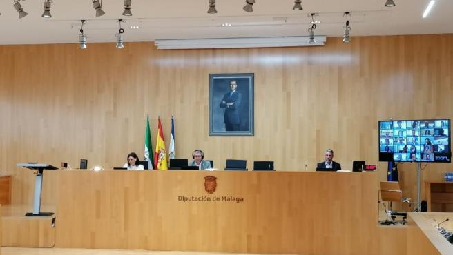 Pleno extraordinario de la DIputación de Málaga del 24 de junio de 2020
