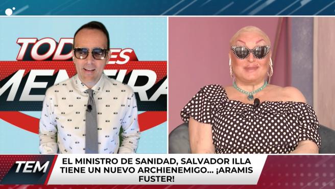 Risto Mejide y Aramís Fuster en 'Todo es mentira'.