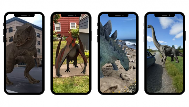 se ha modelado el aspecto en 3D de diez populares dinosaurios