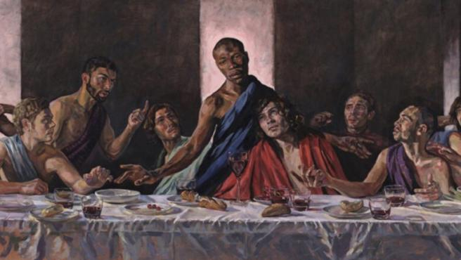 La pintura de Lorna May Wadsworth, 'A Last Supper'.