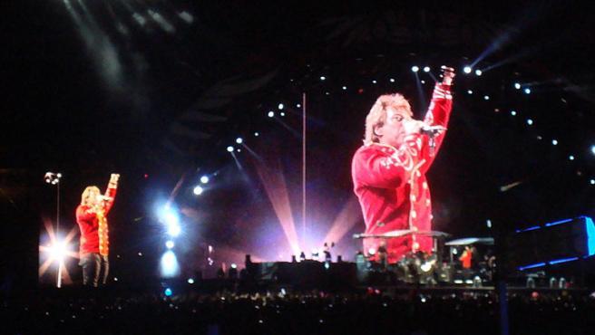 Bon Jovi en concierto. Estadi Olímpic Lluís Companys 2011. Foto Gochy5. Wikimedia Commons
