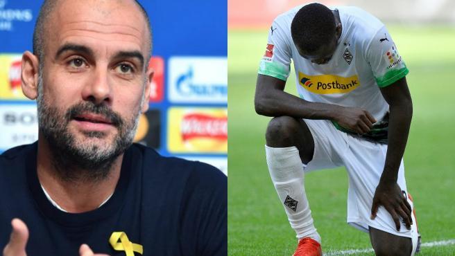 Guardiola compara los lazos amarillos independentistas con arrodillarse contra el racismo