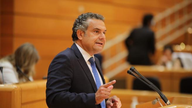 EL portavoz de Energía del PSOE, Manuel Miranda, en el Pleno del Senado