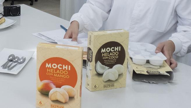 Mochi de mango y coco