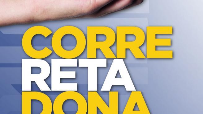 Cartel anunciador del reto solidario de 'Pátano de Canarias' para donar un kilo de plátano por kilómetro recorrido