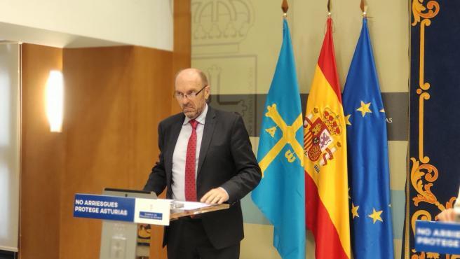El vicepresidente del Gobierno asturiano, Juan Cofiño.