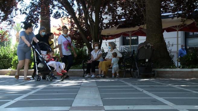 Imágenes de Badajoz donde se ha producido un rebrote de coronavirus durante una fiesta privada la pasada semana.