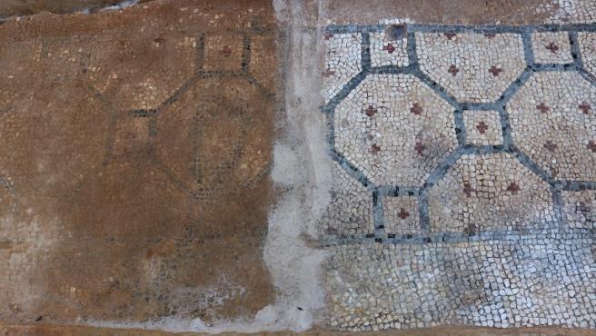 Proceso de restauración del Edificio del Mosaico para incorporarse a la visita al Barrio del Foro Romano