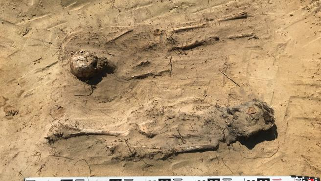 Los cuerpos aparecieron en las obras de construcción de una carretera