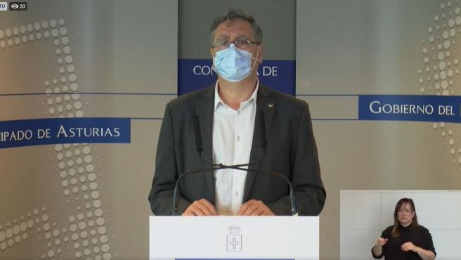 El coordinador de Observatorio de la Salud, Mario Margolles, en rueda de prensa.
