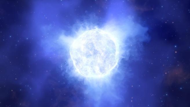 Representación artística de la estrella desaparecida