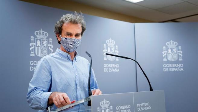 El director del Centro de Emergencias y Alertas Sanitarias, Fernando Simón, informa de la evolución de la pandemia del coronavirus.