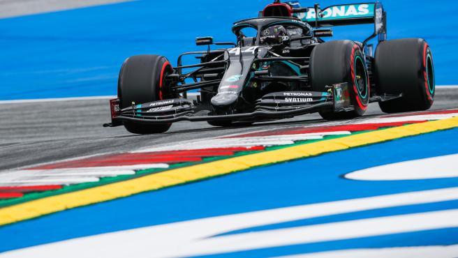 Lewis Hamilton, durante el GP de Austria