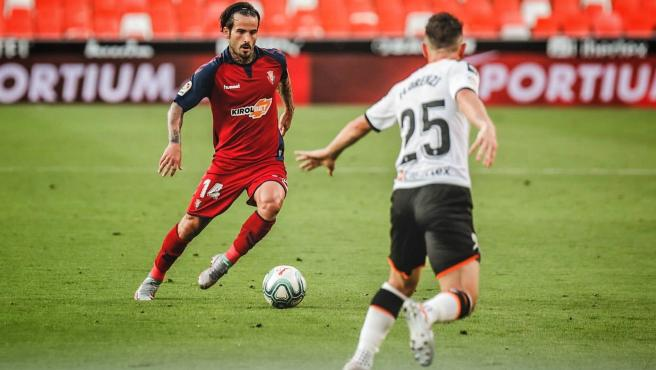 Rubén García, jugador de Osasuna.