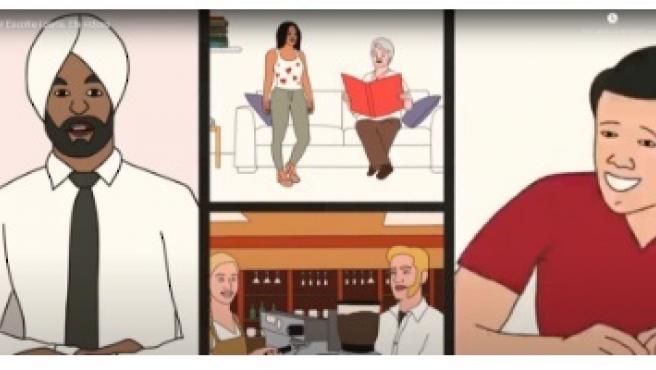Imagen de uno de los vídeos de la serie 'EP! Escolta i parla', impulsada por la Generalitat para aprender catalán. Imagen de uno de los vídeos de 'EP! Escolta i parla' 3/7/2020