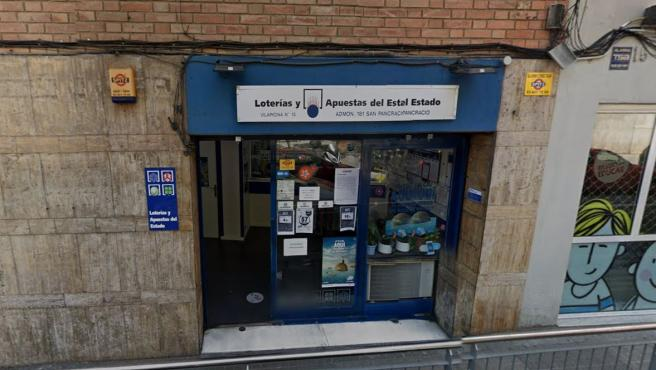 Imagen de la administración de Loterías nº 181 de Barcelona.