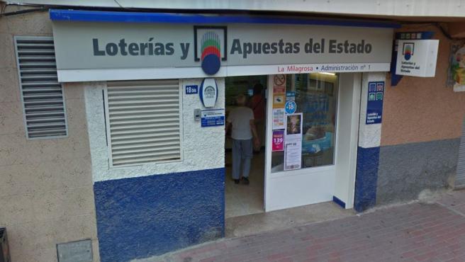 Administración de Loterías en Blanca, Murcia.