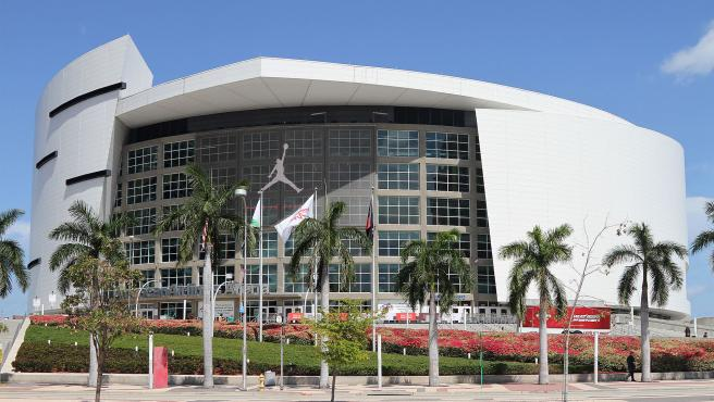 El American Airlines Arena, donde juegan sus partidos de local los Miami Heat.