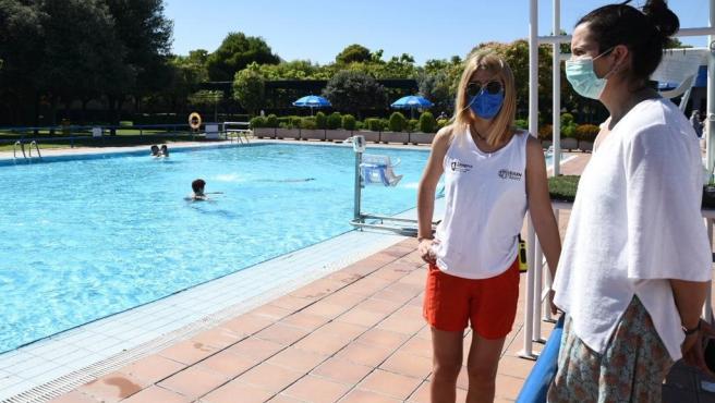 Apertura de piscinas municipales en Zaragoza.