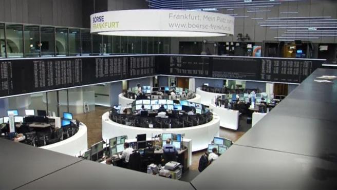 Imagen de archivo de agentes de la Bolsa de valores de Frankfurt.