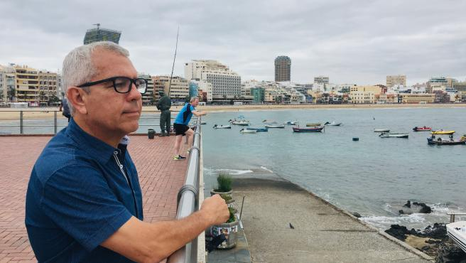 El divulgador antiahogamientos canario, Sebastián Quintana, autor de la campaña audiovisual de prevención 'Canarias,1.500 km de costa'