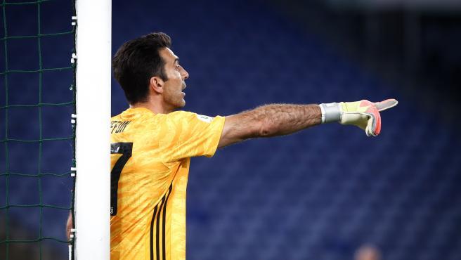 Gianluigi Buffon, en la portería de la Juventus
