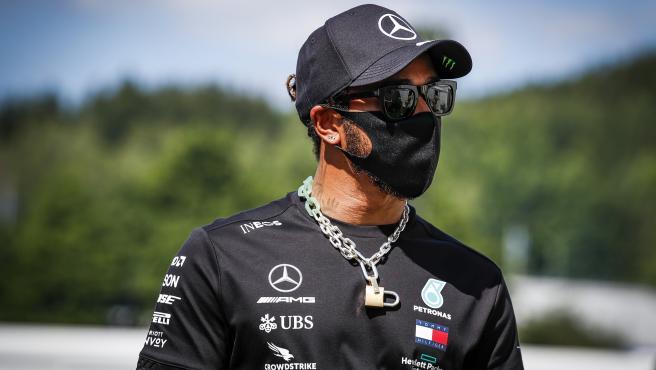 Lewis Hamilton, en el circuito de Austria
