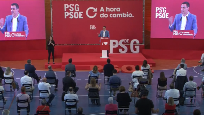 Pedro Sánchez, en un mitin este sábado en A Coruña.