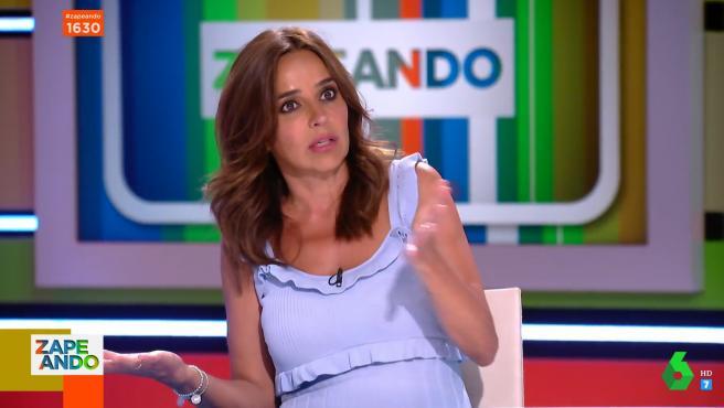 Carmen Alcayde, durante su entrevista en 'Zapeando'.