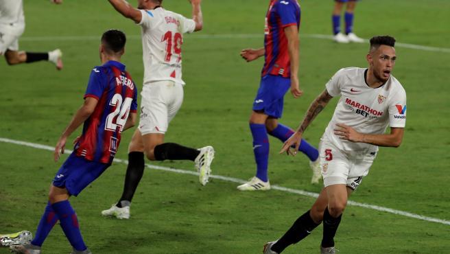 Ocampos celebra su gol al Eibar.