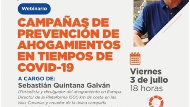 'Canarias, 1500 km de Costa' participa en el ciclo internacional 'El Salvamento Acuático en Tiempos de Pandemia'