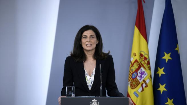 La directora del Instituto de Salud Carlos III, Raquel Yotti (2i), durante la rueda de prensa para presentar las conclusiones del estudio de seroprevalencia en España.